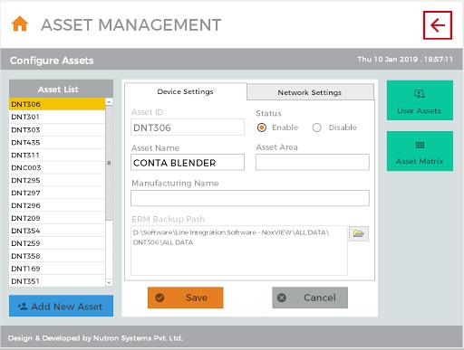Line Integration System Asset/Equipment Management